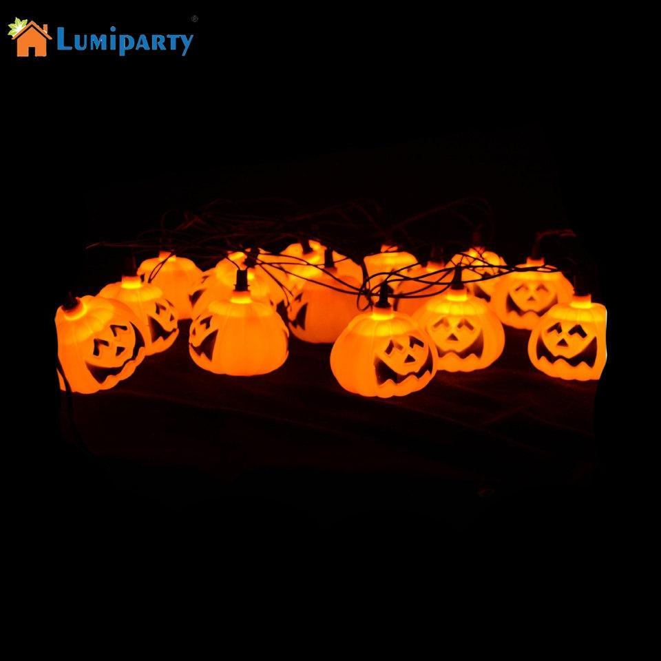 16LED Halloween Pumpkin LED String Lights Halloween holiday Christmas Party Garden Decoration Lights