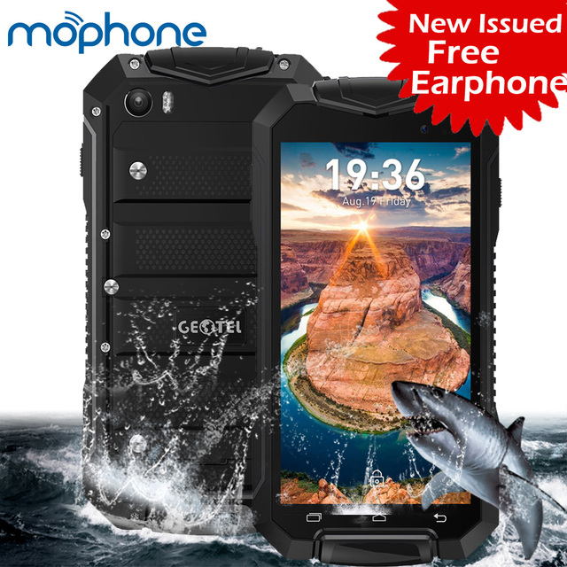 """Geotel A1 IP67 Waterproof Tri-proof 3G Smartphone 4.5"""" MTK6580M Quad-core Android 7.0 1GB + 8GB 8.0MP+2.0MP Cameras Mobilephone"""