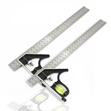 300mm(12) Right Angle Ruler Adjustable Engineer Combination Try Square Set Horizontal Ruler Angle for Woodworking Tools