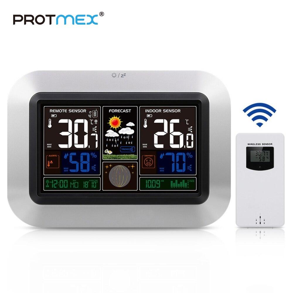 Werkzeuge Temperatur Instrumente Protmex Radio Contraolled Wecker Wetter Station Mit Temperatur Feuchtigkeit Sensor Bunte Lcd Display Wetter Prognose Verkaufsrabatt 50-70%