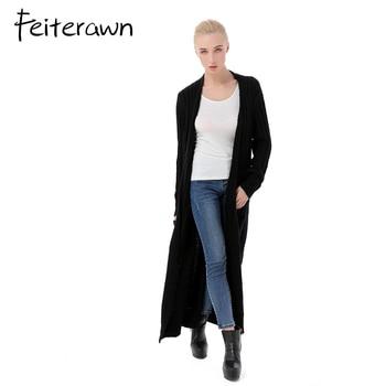 Das Ist Verkauf Feiterawn Frauen Lange Pullover Strickjacke Mit