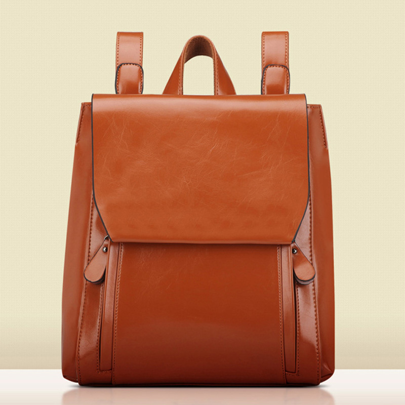 ФОТО Backpack Mochila Lemochic Backpack Vintage PU Oil Leather Women Bag Fashion School Bags for Teenagers Military Woman Backpacks
