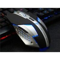 AZZOR D5 Cichy Kliknij 7 Przyciski 3200 DPI USB Przewodowa Mysz do gier wyciszenie Noteboo Makro Mysz Optyczna Gra Komputerowa Myszy na PC Laptop