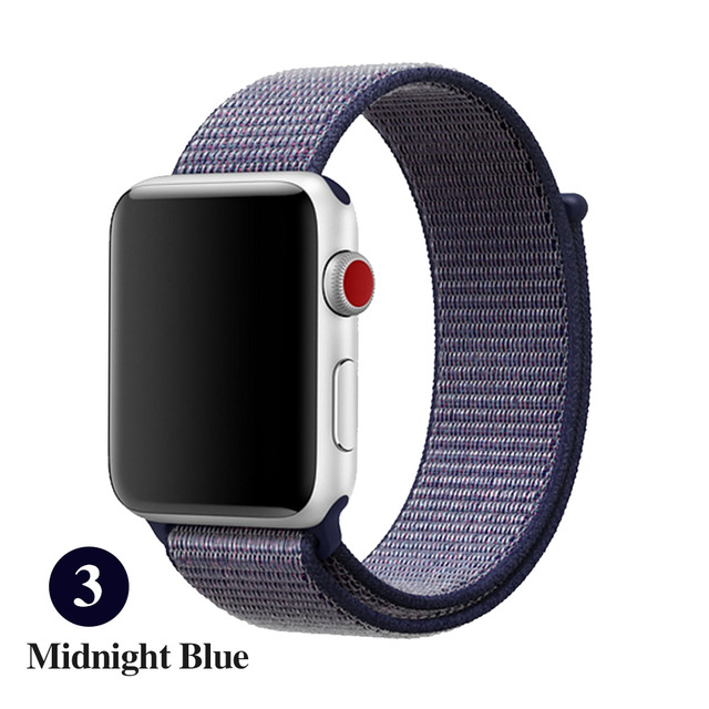 Sports strap for apple strap 42mm with iwatch 38mm 44mm 40mm strap Apple Watch 4 3 bracelet bracelet nylon 2/1
