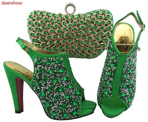 Style Mesure Royal Et Africain Sac teal orange jaune La Green bleu Été Sur Doershow Chaussures Noir Sxf1 Femmes Ensemble army pourpre Produits Fête Pour Italien 7 8qAx564w