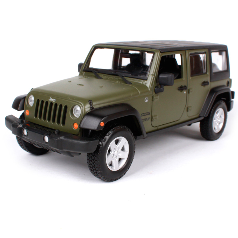Maisto 1:24 jeep wrangler unlimited yellow orange tarmac car diecast 1/24 scale model car toy motorcar version gift 31268