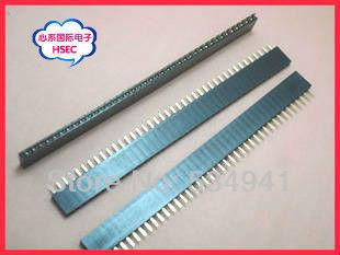 Ücretsiz Kargo Yüksek Kaliteli 4000Pins = 1*40 P 2.54 Pitch Tek Sıra Kadın Pin Header Konnektör/ 40P 2.54 konektörü 100 adet/grup