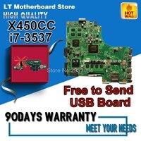 Хит продаж для Asus X450CC x459cc X450VC ноутбук материнской платы с I7 3537U GT720M 8 памяти 2 ГБ N14M GE S A2 полностью 100% тестирование