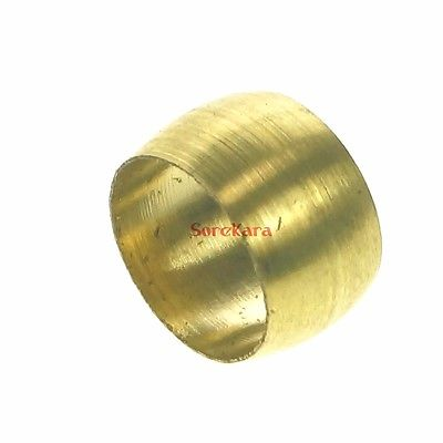50pcs LOT 50 Brass Fit Compression Sleeve Fitting Sleeve Ferrule Ring For 4mm O/D Tube