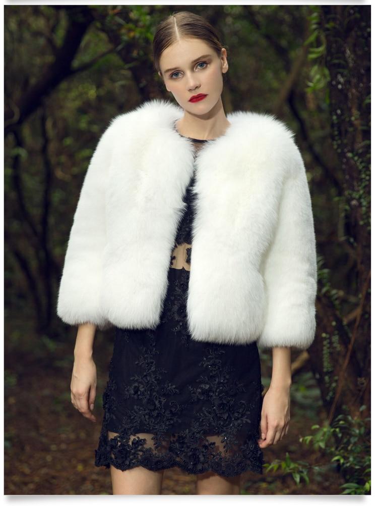 Naturel Femmes 2018 Épais De Veste Nouvelles Fourrure Vraie Manteau Pelt Fursarcar Pleine Blanc Court Luxe Pour Femme Renard Chaud EpZawqWSdx