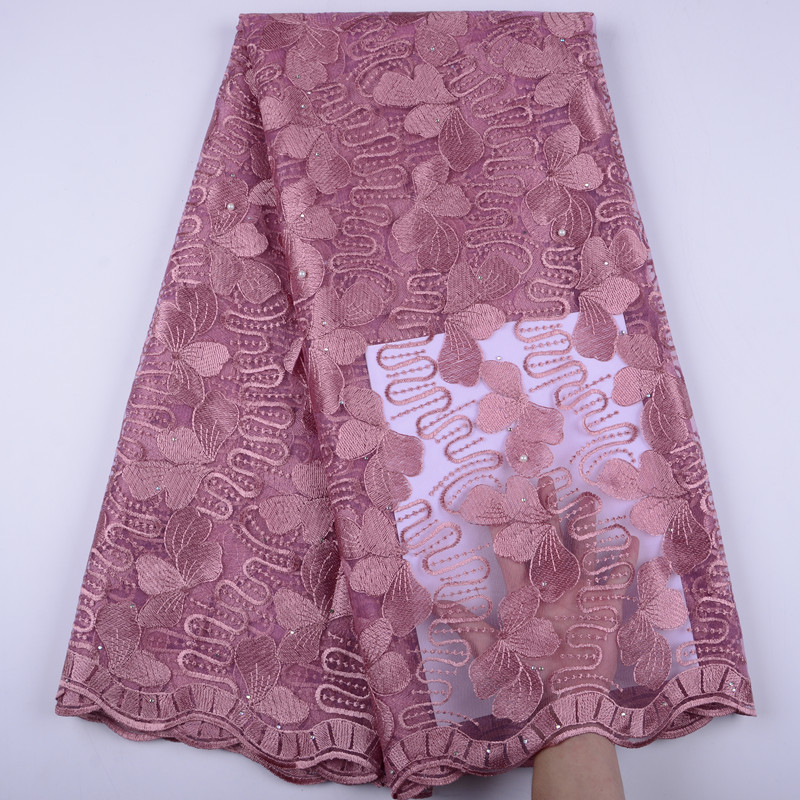 Onion African Lace Fabric 2019 Embroidered Nigerian Laces Fabric High Quality French Tulle Lace Fabric For