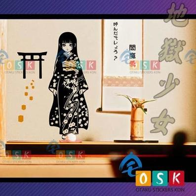 Pegatina Anime Japanese Hell Girl Enma Ai Cartoon Cosplay Fans Wall Sticker Decors Decal Paper Home Kids Room Decor