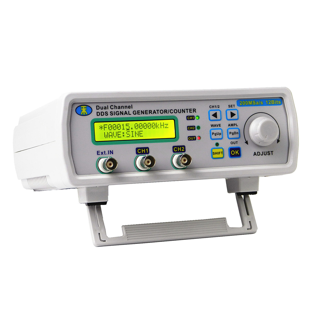 MHS-5200A Signal Generator Function Generator Digital Control Dual-Channel DDS Arbitrary Sine Waveform Pulse Frequency Meter mhs 5212p power high precision digital dual channel dds signal generator arbitrary waveform generator 6mhz amplifier 80khz