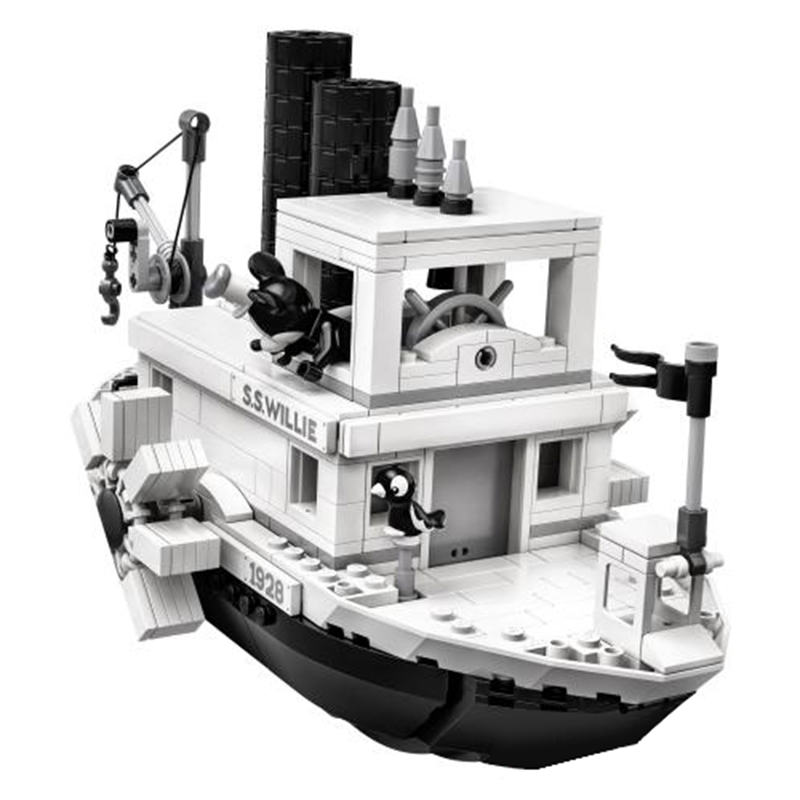 Image 2 - 2019 New Ideas Steamboat Willie Movie Legoed 21317 Building Blocks Bricks Toys for Children Gifts Model Kids Christmas Gift-in Model Building Kits from Toys & Hobbies