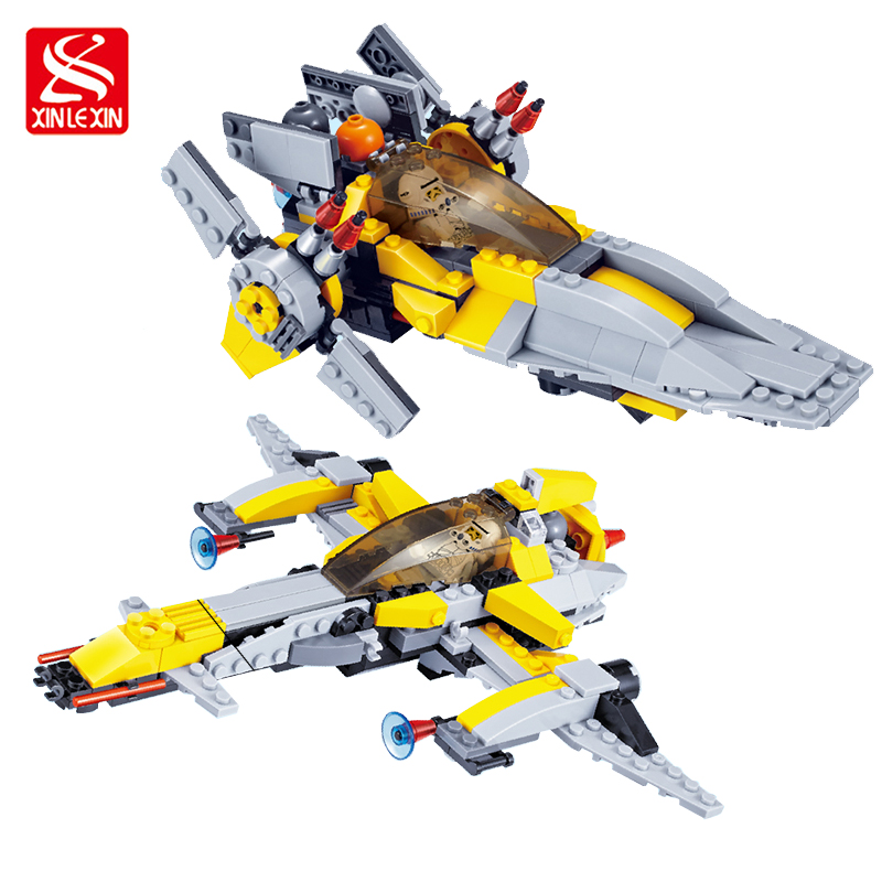 293pcs Star Wars 2 in 1 Spaceship Fighter Clone Wars Starwars troopers Ships Building Blocks Compatible with 05032 все цены