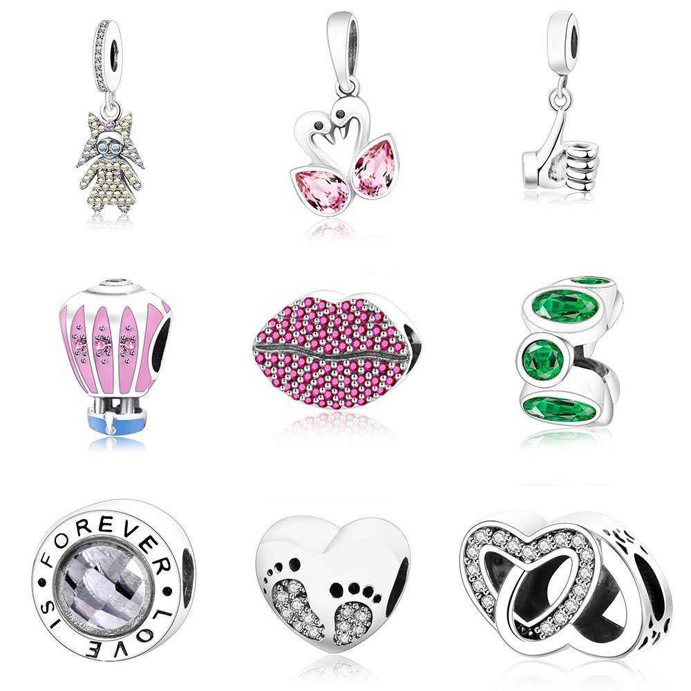 Fit Original Pandora Charm Bracelet 925 Sterling Silver Beautiful Charms Bead Good Quality Jewelry For Women Gift DIY Berloque