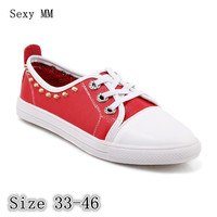 Flats Women Loafers Woman Casual Shoes Skate Walking Flat Shoes Plus Size 33 40 41 42 43 44 45 46