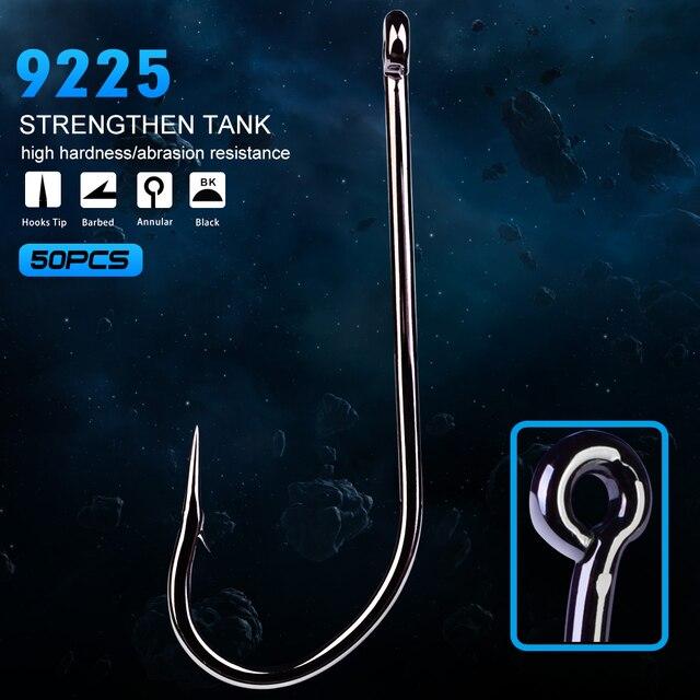 50PC Fishing Hooks O'shaughnessy Series JIG Hook Jig Big Fish hook 9255-1#-7/0# JIG Hook