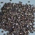 Geléia de cristal Marrom Café AB Múltiplas facetas de resina Plano Voltar Pedrinhas 1000 pcs miçangas da arte Do Prego #06