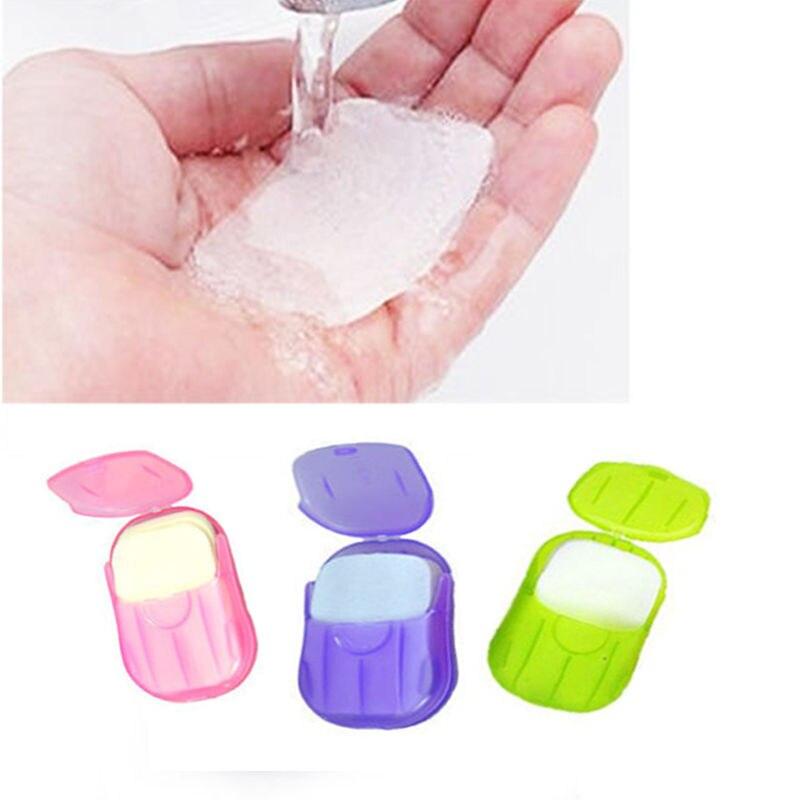 1 Stück Box Tragbare Waschen Scheibe Blätter Hand Bad Reise Duftenden Schäumen Papier Seife Angemessener Preis