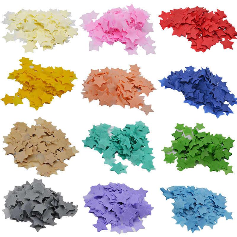 10g (1000 pcs) 1 ''tabela Confetti Estrela Forma Tissue Paper Confetti para o Casamento Decoração Do Partido Graduação Bacharel do Enchimento do Balão