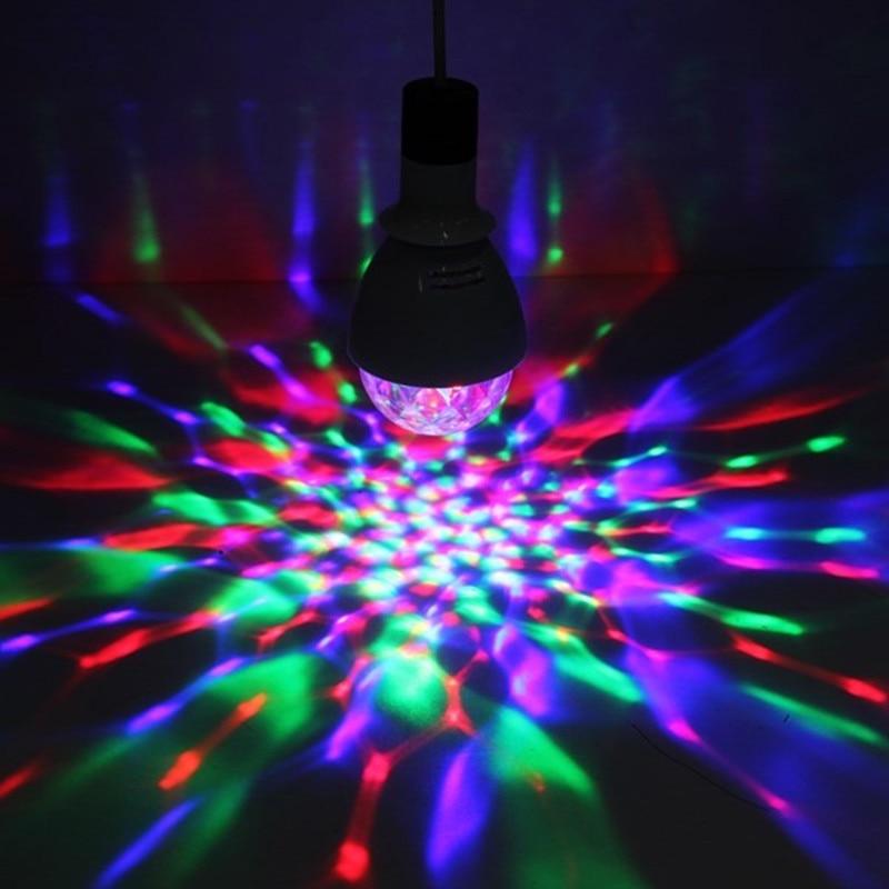 ZjRight E27 LED luz cambiable colorido 3W RGB cristal giratorio - Iluminación comercial - foto 6