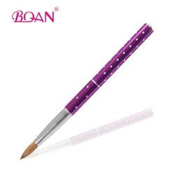 BQAN 5 pièces/lot acrylique brosse à ongles Pure Kolinsky Sable brosses #8 métal acrylique brosses pour ongles manucure Art outil