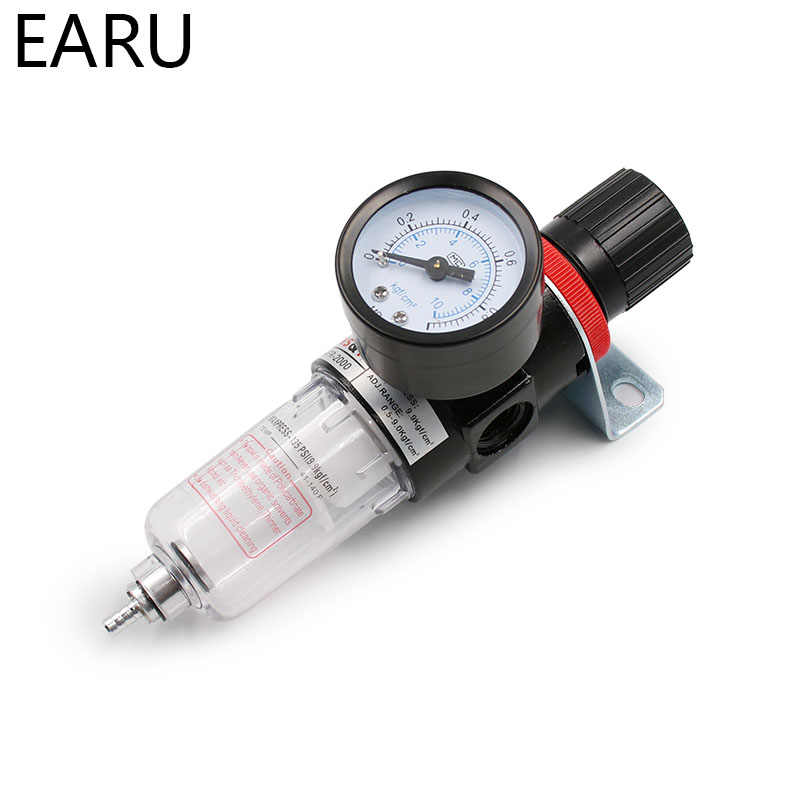 1pc AFR-2000 Pneumatic Filter Air Treatment Unit Pressure Regulator Compressor Reducing Valve Oil Water Separation AFR2000 Gauge