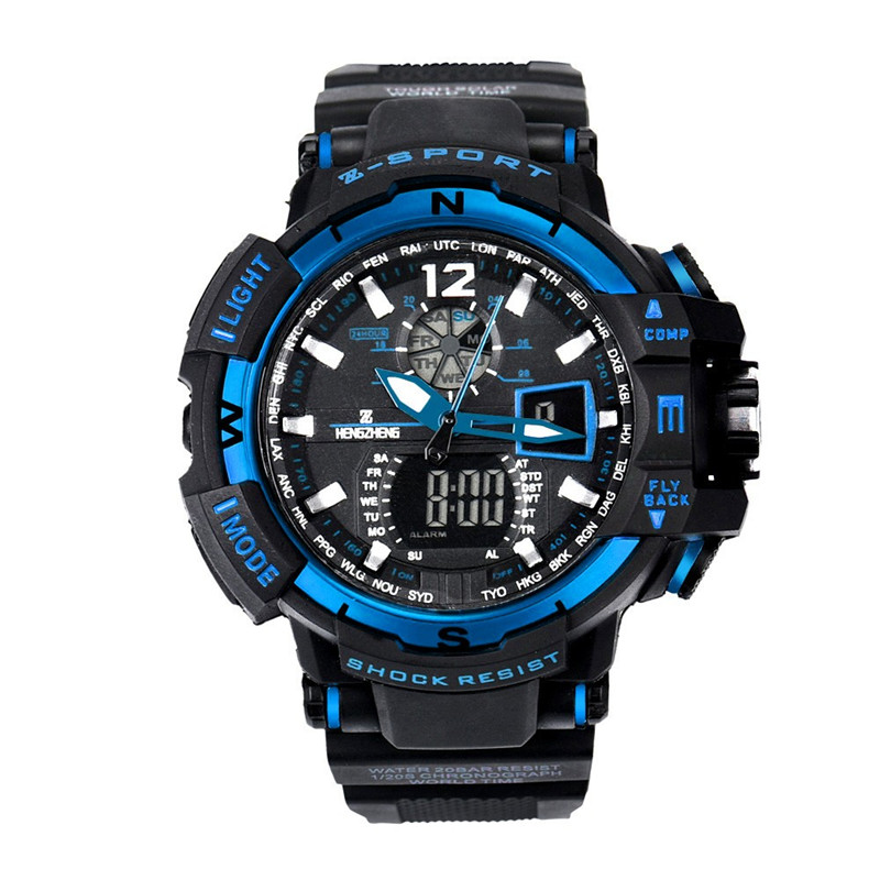 Watch Men 2018 Rubber Band LED Digital Watch Sports men watch Waterproof Diving Quartz Watch Hot Relogio Masculino Wholesale
