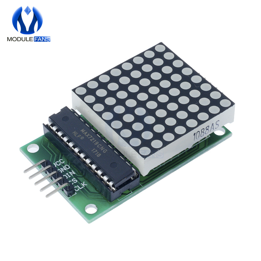 8x8 Matrix Dot LEDs MAX 7219 Display Module White Color