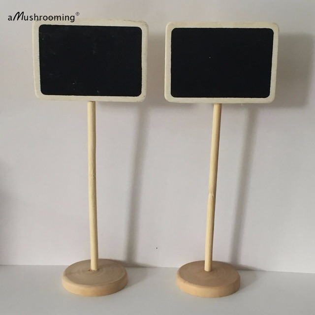 Famous 10x Mini Wedding Chalkboard Rectangle Frame Blackboard Stick stand  LE18
