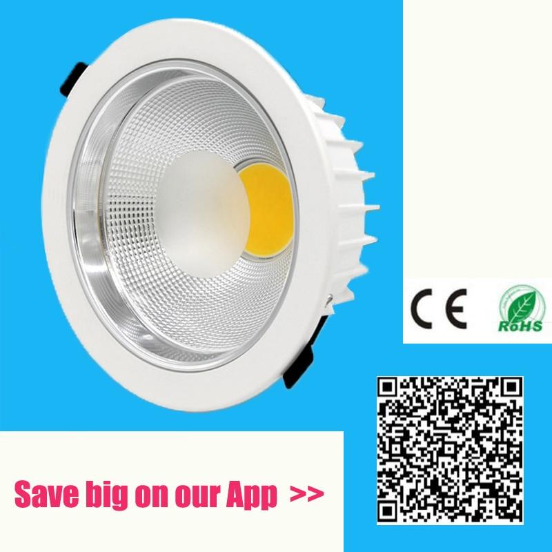 Encastré led cob downlight Dimmable 5 W 7 W 10 W 15 W 20 W 30 W 40 W 50 W 60 W gradation CONDUIT de lumière Spot led plafond lampe AC110V 220 V IP44