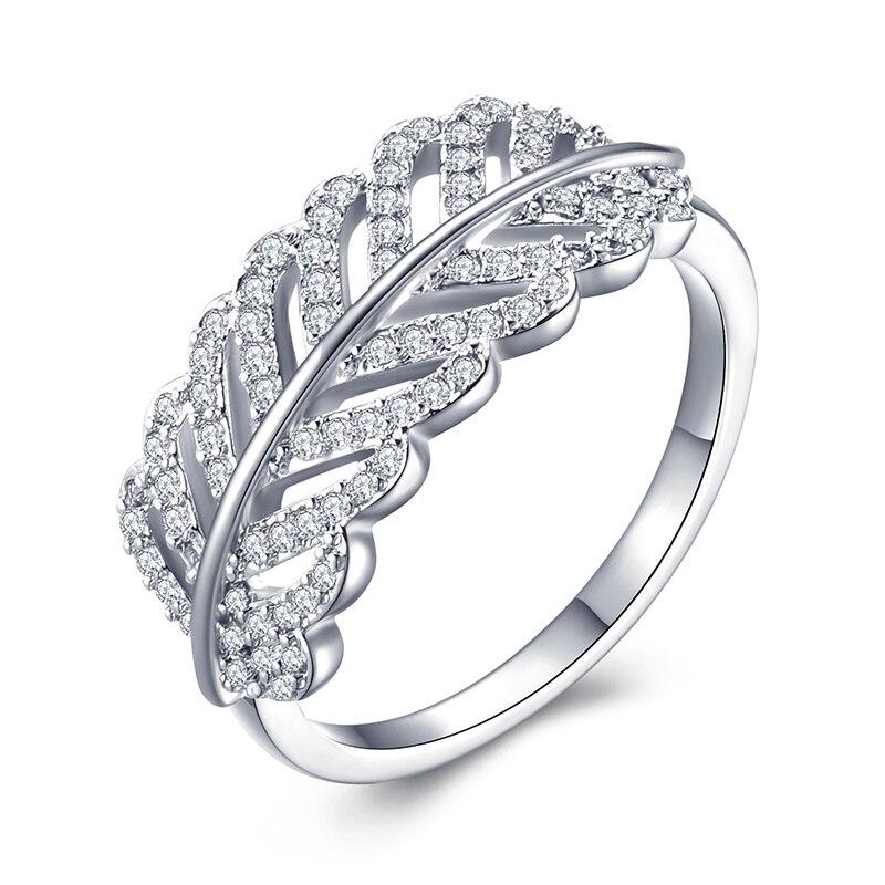 Модное Сверкающее циркониевое серебряное кольцо для женщин, цветочное сердце, корона, кольца на палец, фирменное кольцо, ювелирное изделие, Прямая поставка - Цвет основного камня: 27