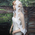 high quality 1.5m wedding veils bridal accesories lace veil bridal veils White/Ivory 1 layer Veil With No Comb