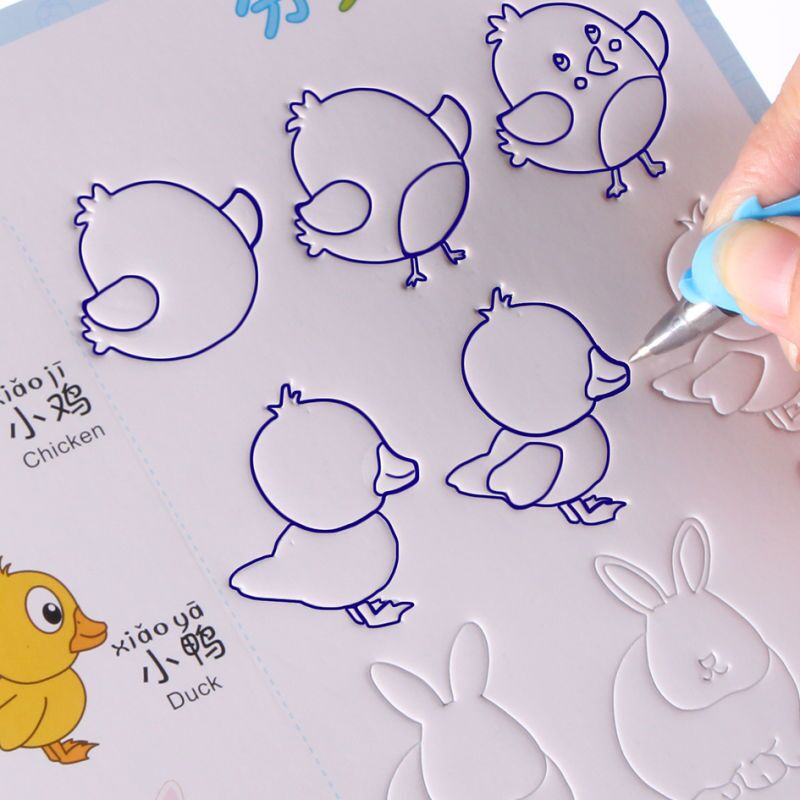 New Groove Animal Fruit Vegetable Plant Cartoon Baby Drawing Book Coloring Books For Kids Children Painting