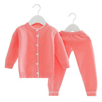 V Dots Baby Girls Clothing Set Spring Autumn Thin Cute Buttons Sweater Suit Newborn Infant Girl Button Sweaters 9 24Months