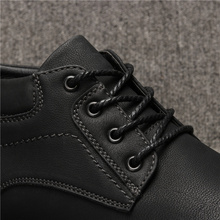 Spring male ankle boots safety casual fashion brand work men shoes