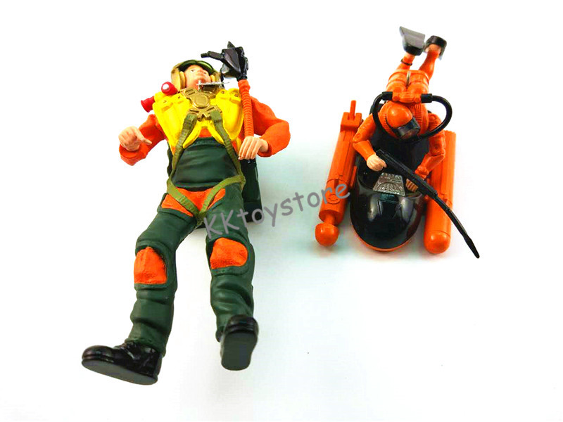 mini ABS figure simulation Model Doll Toy Diver Set Harpoon Mini Submersible SET pvc figure the simulation model toy decoration tr ibe doll ornaments 9pcs set
