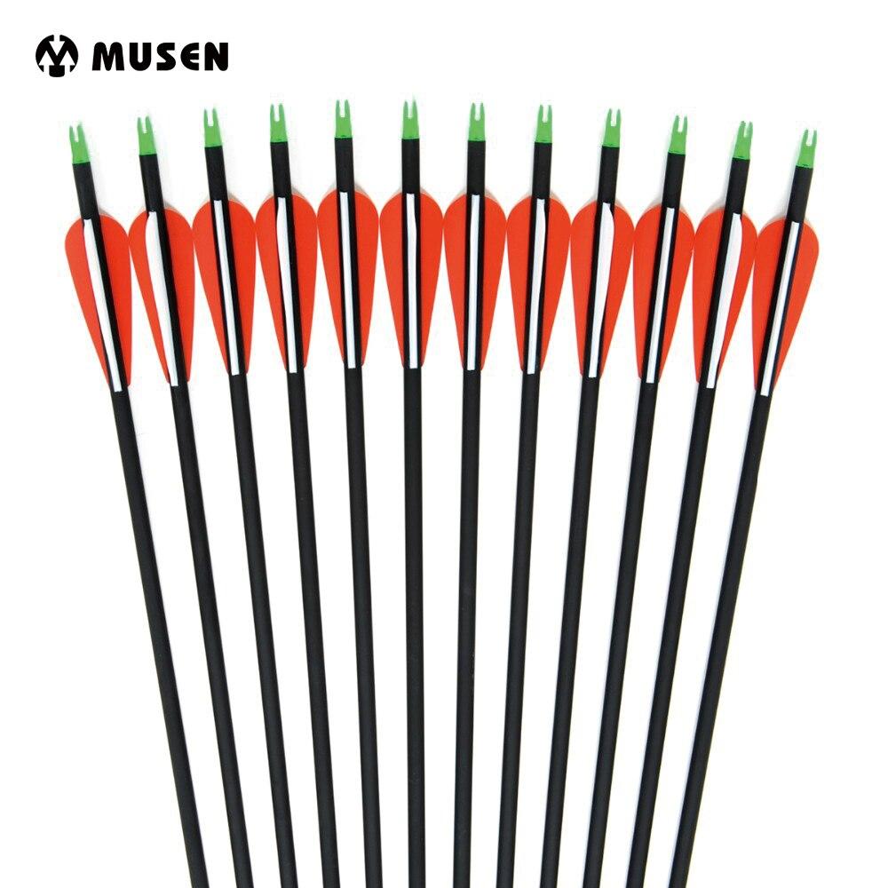 6/12/24pcs Arrowhead Replaceable Bow Archery Compound/recurve Length Spine Hunting 500