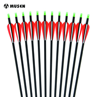 6 12 24pcs Carbon Arrow 28 30 32 Inches Length Spine 500 With Replaceable Arrowhead For
