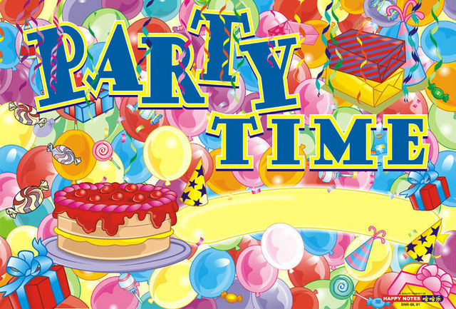 30PCS Party Time Theme Birthday Celebration Poster Party Supplies