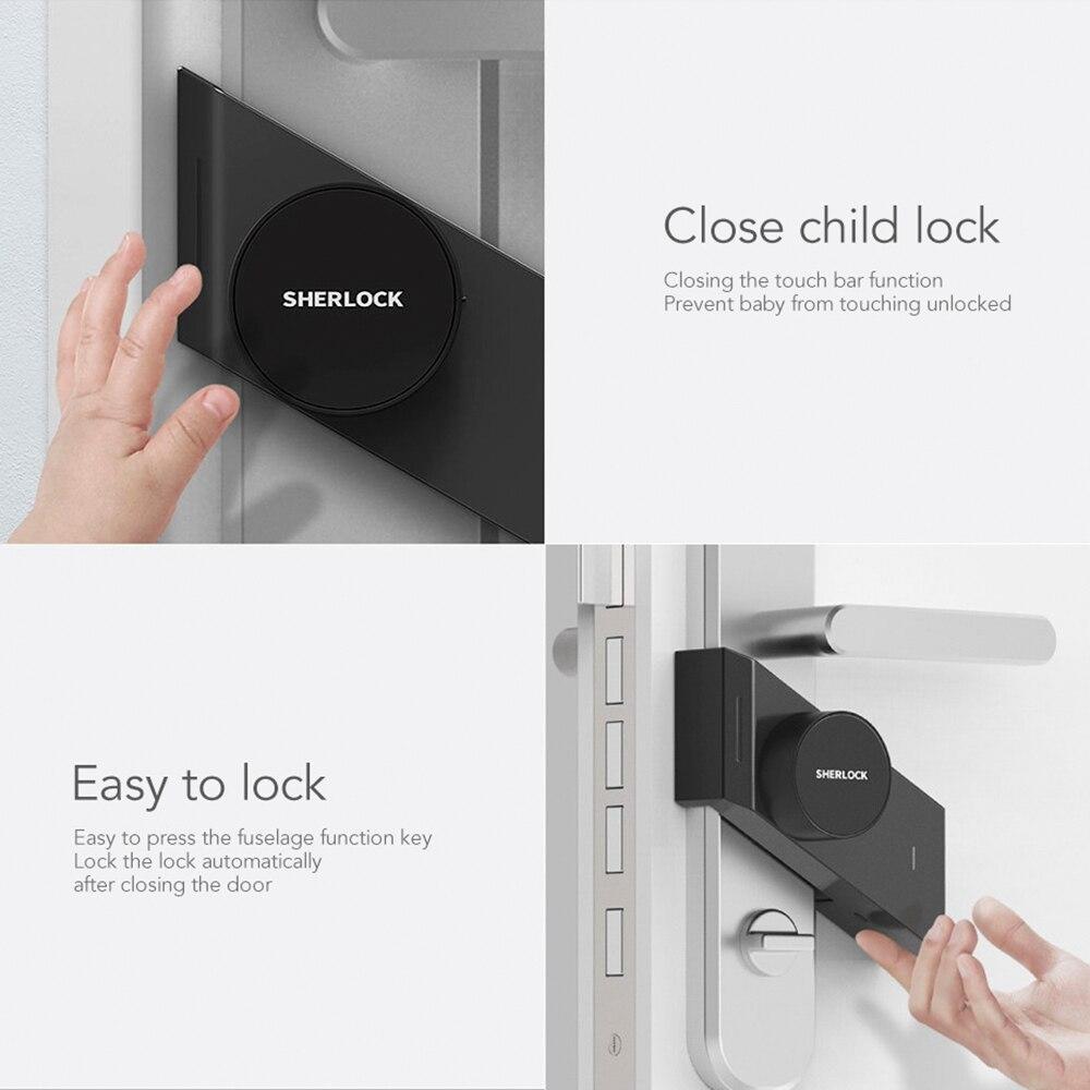 Image 5 - Sherlock S2 Electric Lock Fingerprint+Password Smart Door Lock Add 1Pc Key For Office Glass Door Wireless APP Bluetooth Control-in Electric Lock from Security & Protection