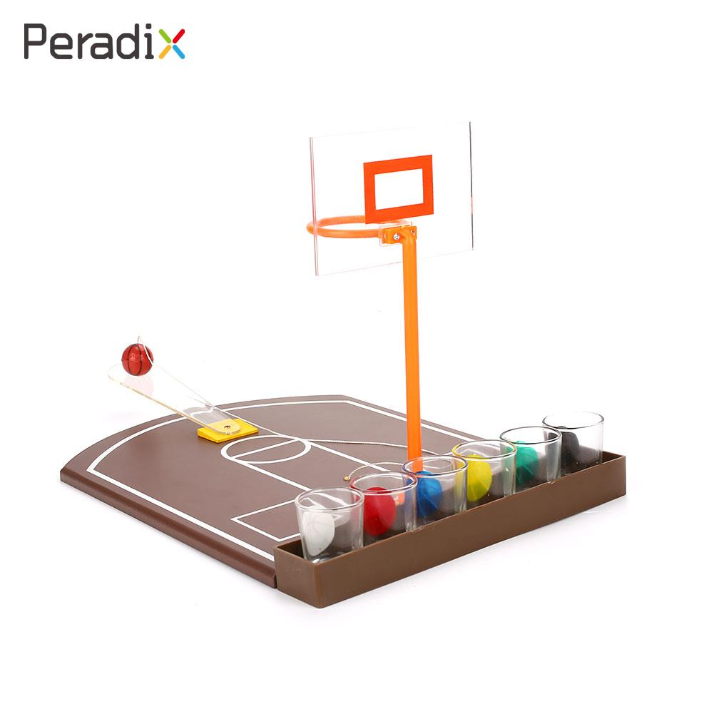 Stiff Toy Basketball 6PCS Glass Drinking Entertainment Basketball Drinking Game Springboard Party Simulation Basketball