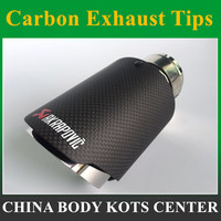 1PCS AKRAPOVIC carbon fiber + Stainless Steel exhaust tip exhaust pipe muffler Matt Black Exhaust Tip