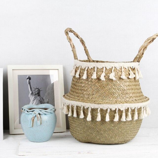 Neatening/Storage Cesta Dobrar Cesto de roupa suja cesta de vime cesta de vime Vaso de Flores e Plantador Do Jardim