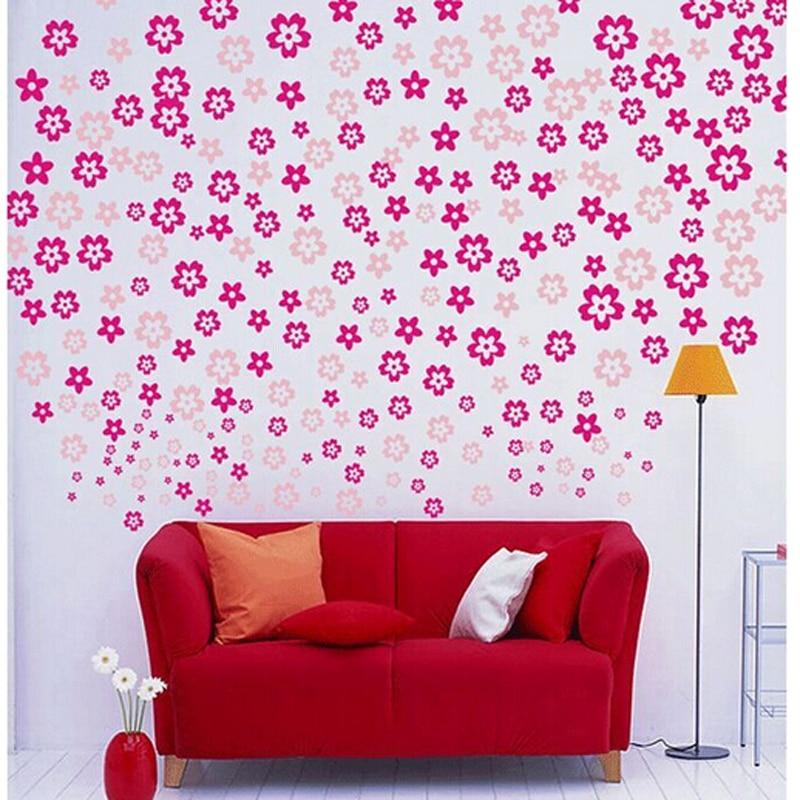 108*3 Kleine Gebrochene Blume Romantische Aufkleber Ehe Zimmer Dekorationen  Wandaufkleber Wohnzimmer Schlafzimmer Badezimmer Aufkleber