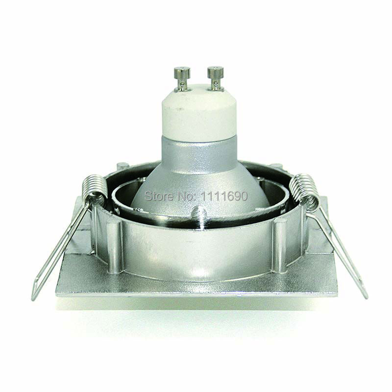 Bases da Lâmpada gu10 mr16 downlight quadrado de Bracket : Ceiling Spot Lights