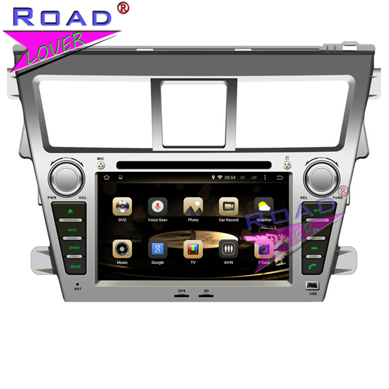 TOPNAVI Octa Core 4G+32GB Android 6.0 Car Media Center DVD Player Auto Radio For Toyota Vios 2007- Stereo GPS Navi Two Din MP4