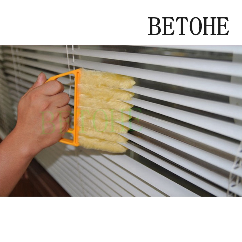 Betohe Useful Microfiber Window Cleaning Brush Air Conditioner Duster Cleaner With Washable Venetian Blind Blade Cleaning