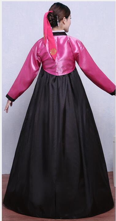 Svart Hanfu Kostym Koreansk Traditionell Kostym Kvinnor Hanbok - Nationella kläder - Foto 2